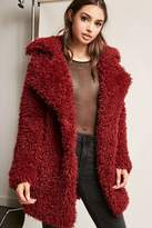 Forever 21 Boucle Knit Button-Front Coat