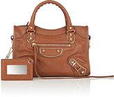 Balenciaga Women's Arena Leather Metallic Edge Mini City Bag