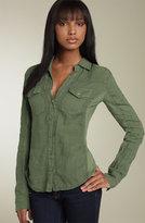 Knit Panel Linen Shirt