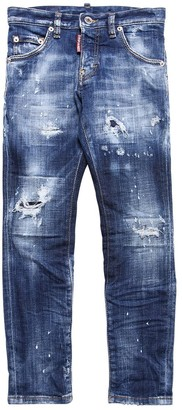 DSQUARED2 Painted Destroyed Stretch Denim Jeans