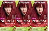 Garnier Nutrisse Ultra Color Nourishing Hair Color Creme,3 Count (Packaging May Vary)