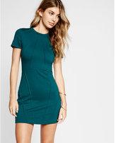 Express pintucked short sleeve dress