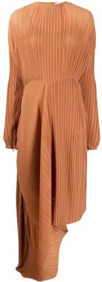 Preen by Thornton Bregazzi Glenda asymmetric pleat dress
