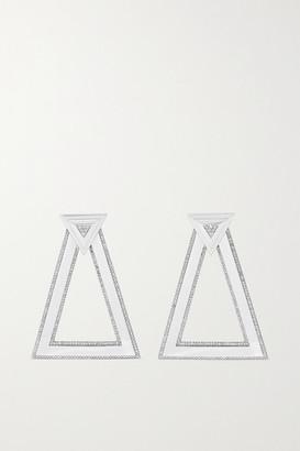 Ofira 18-karat White Gold Diamond Earrings - one size