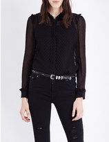 The Kooples Ruffled silk-blend blouse