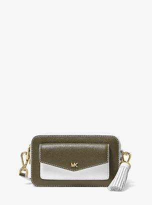 MICHAEL Michael Kors Small Two-Tone Pebbled Leather Camera Bag