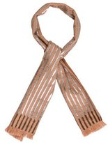 Dries Van Noten Leather-Trimmed Wool Scarf