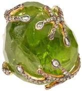 Kimberly Mcdonald Large peridot and diamond ring