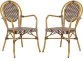 Safavieh Set Of 2 Rosen French Bistro Stacking Arm Chairs
