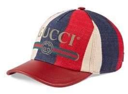 Gucci Sylvie Logo Print Baseball Hat
