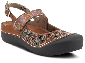 Spring Step L'Artiste By Adjustable Leather Clogs - Cybele