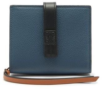 Loewe Anagram-debossed Grained-leather Wallet - Blue Multi