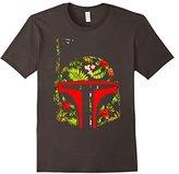 Star Wars Boba Fett Tropical Print Helmet Graphic T-Shirt
