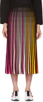 Kenzo Multicolor Rib Knit Colorblock Midi Skirt