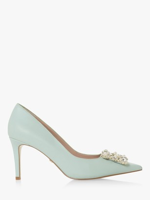 Dune Bettie Suede Stiletto Court Shoes
