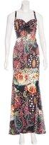 Just Cavalli Abstract Print Sleeveless Dress