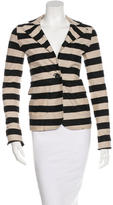 Derek Lam 10 Crosby Long Sleeve Striped Blazer