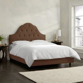 Asstd National Brand Belfort Upholstered Velvet Arched Tufted Bed