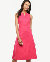 Ann Taylor Tall Split Neck Flare Dress