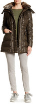 Vince Camuto Faux Fur Lined Hood Down & Feather Fill Coat