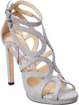 Jimmy Choo Leo 120 Glitter Platform Sandal