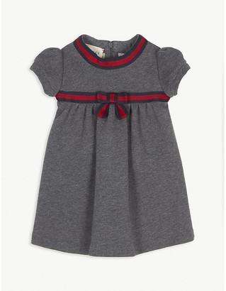 Gucci Web stripe cotton dress 3-36 months