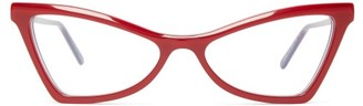 Marni Cat Eye Acetate Glasses - Womens - Red