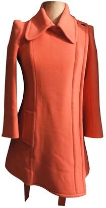 Sonia Rykiel Sonia By Orange Wool Coat for Women