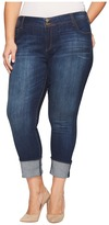 KUT from the Kloth Plus Size Cameron Straight Leg Jeans in Supple w/ Dark Stone Base Wash Women's Jeans