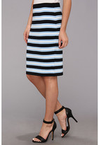 Calvin Klein Multi Color Striped Knit Skirt