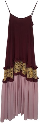 Non Signã© / Unsigned Burgundy Polyester Dresses