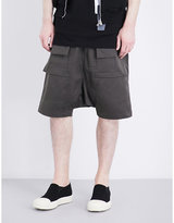 Rick Owens Drkshdw Drkshdw High-rise Cotton Shorts