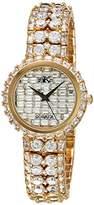 Adee Kaye Women's Quartz Brass Dress Watch, Color:Gold-Toned (Model: AK9701-LG)