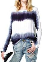 Merry Mou Store Women's Tie Dye T-Shirt Long Sleeve Casual Loose Tee Shirt Blouse