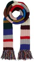 Burberry Long Chunky Knit Striped Scarf