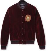 Dolce & Gabbana - Slim-fit Embellished Cotton-velvet Bomber Jacket