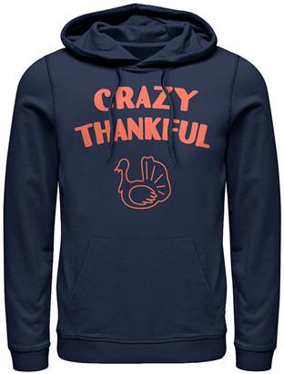 Fifth Sun Sweatshirts and Hoodies NAVY - Navy 'Crazy Thankful' Kangaroo-Pocket Hoodie - Adult