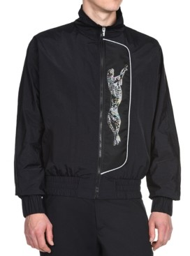 Just Cavalli Men's Cheetah Graphic Sports Jacket
