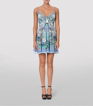 Camilla Silk Wings Of Luxor Mini Dress