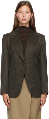Low Classic Brown Stitch Slim Blazer