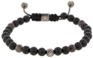 Shamballa Jewels Grey Sapphire and Onyx Bead Bracelet