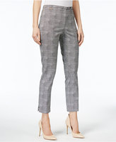 NY Collection Plaid Ankle Pants