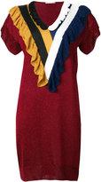 Marco De Vincenzo frill V-neck dress