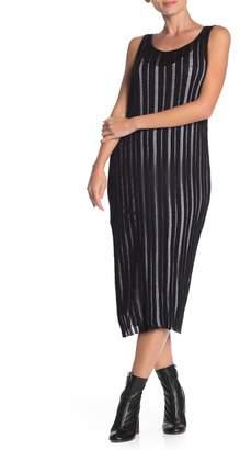 Jarbo Sleeveless Sheer Midi Dress
