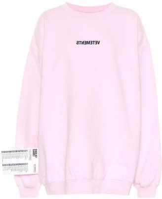 Vetements Logo cotton sweatshirt
