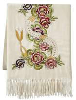 Williams-Sonoma Williams Sonoma Tanith Embellished Cashmere Throw, Ivory