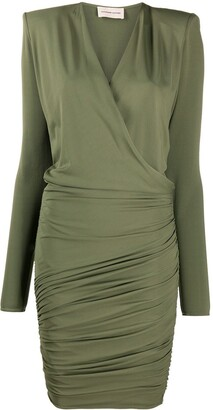 Alexandre Vauthier Wrap Front Mini Dress