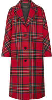 Burberry Tartan Wool And Cashmere-blend Coat - Red