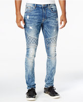 GUESS Men's Skinny-Fit Moto Vibration Jeans