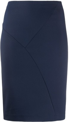 Patrizia Pepe Plain Fitted Skirt